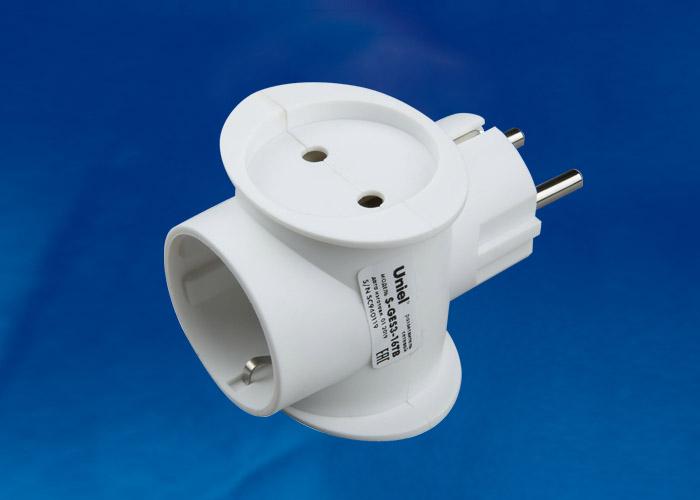 Разветвитель сетевой Uniel S-GES3-16TB , количество розеток – 3, Максимальный ток - 16А, Максимальная мощность нагрузки – 3500Ватт, заземление, выключатель