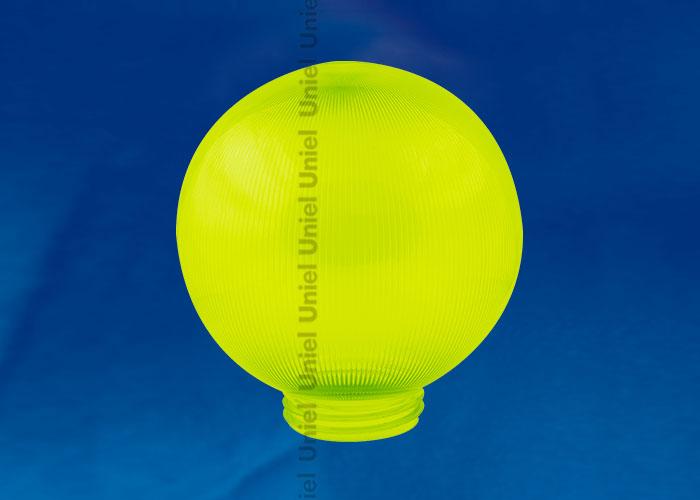 Рассеиватель UFP-Р200A GREEN призматический (с насечками) в форме шара для садово-парковых светильников. Диаметр - 200мм. Тип соединения - резьбовой. Цвет - зеленый