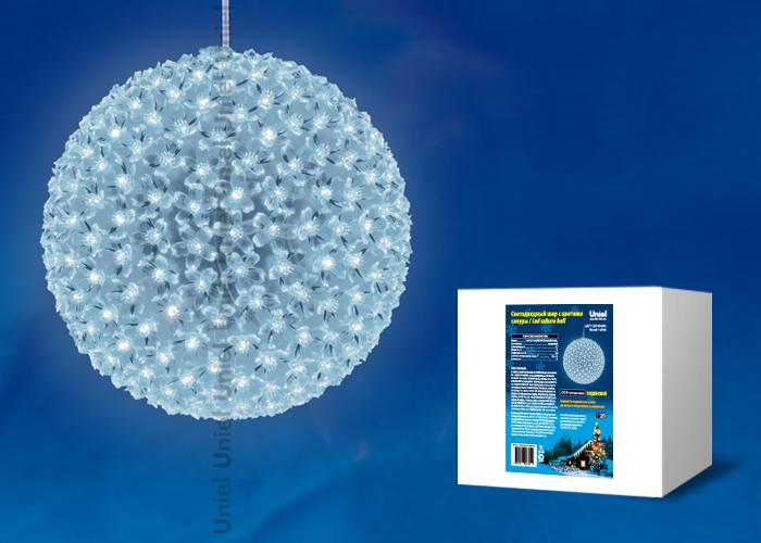 Фигура светодиодная ULD-H2727-300/DTA WHITE IP20 SAKURA BALL Шар с цветами сакуры, с контроллером, 300 светодиодов, диаметр 27 см, цвет свечения-белый, IP20