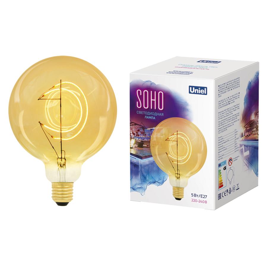 LED-SF02-5W/SOHO/E27/CW GOLDEN GLS77GO
