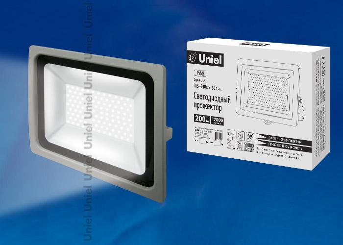 ULF-F16-200W/DW IP65 185-240В SILVER - фото 48260