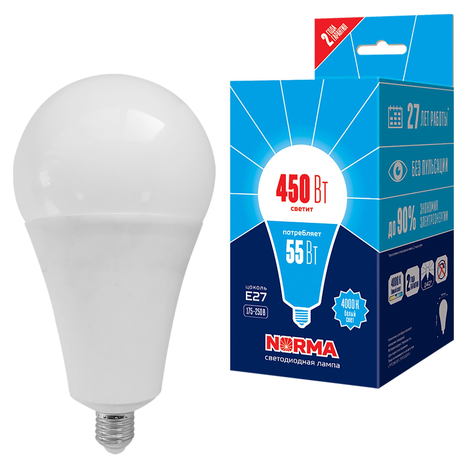 LED-A140-55W/4000K/E27/FR/NR картон - фото 49264