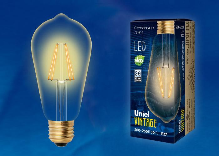 LED-ST64-5W/GOLDEN/E27 GLV22GO
