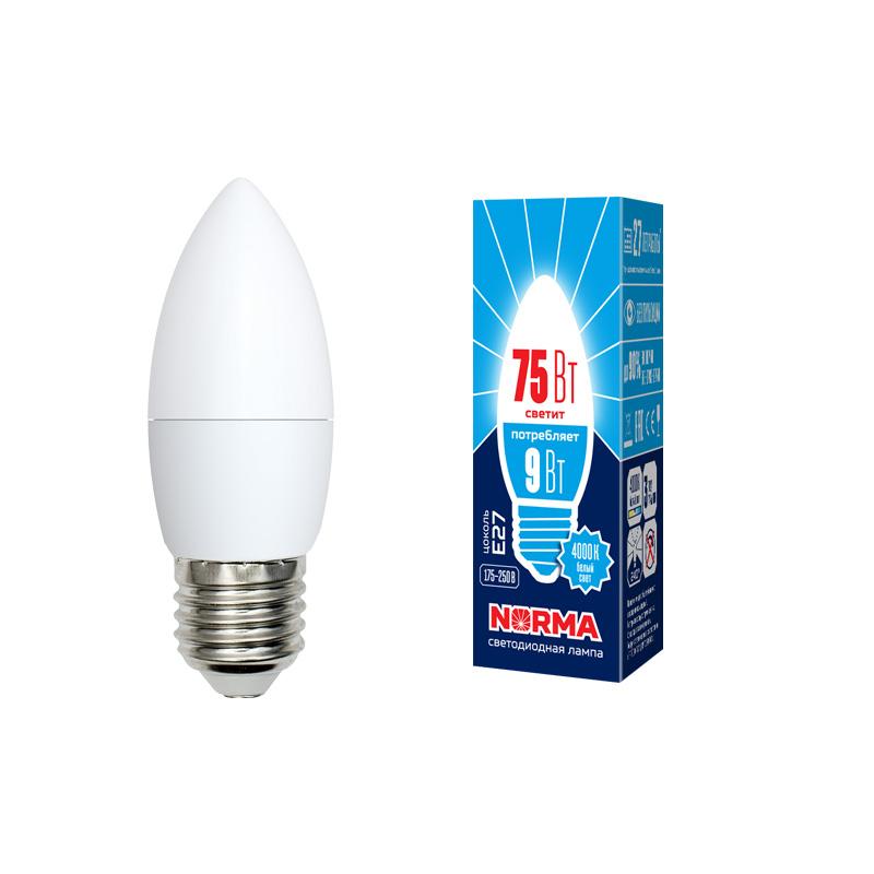 LED-C37-9W/NW/E27/FR/NR картон - фото 48554
