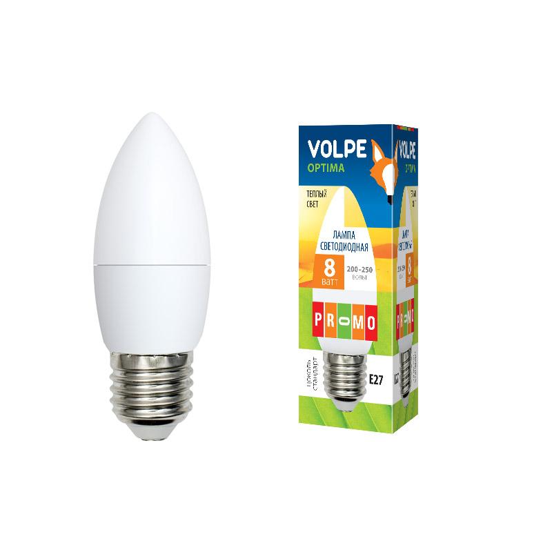 LED-C37-8W/WW/E27/FR/O картон - фото 48018