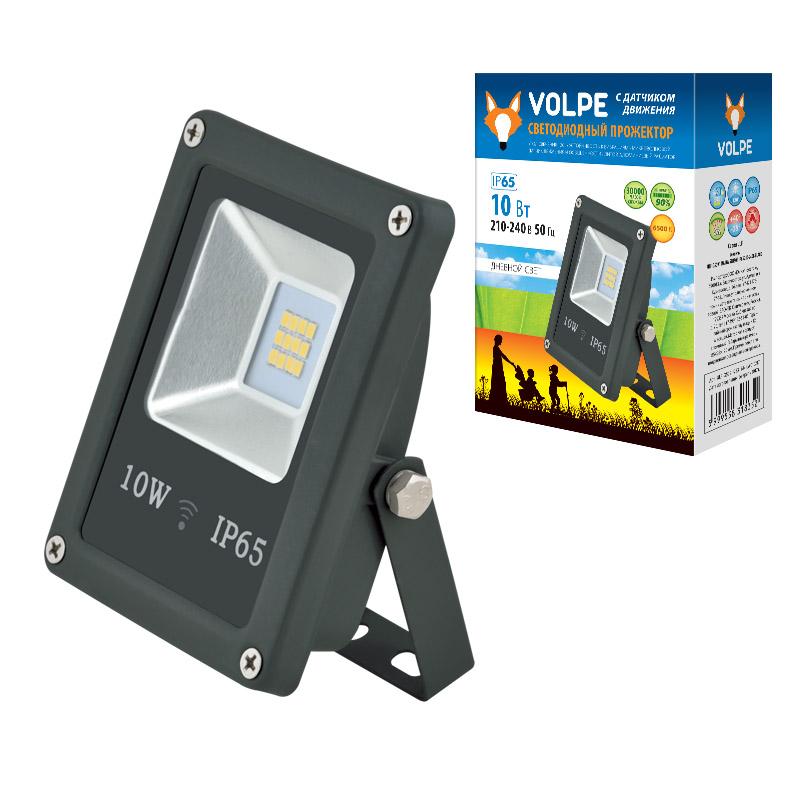 ULF-Q509 10W/DW SENSOR IP65 210-240B BLACK картон - фото 48087
