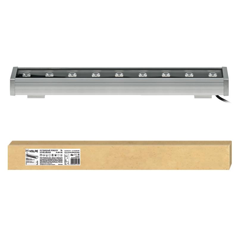 Прожектор светодиодный линейный ULF-Q552 9W/WW IP65 SILVER , 500мм. Теплый белый свет. Угол 45 градусов. TM Volpe.