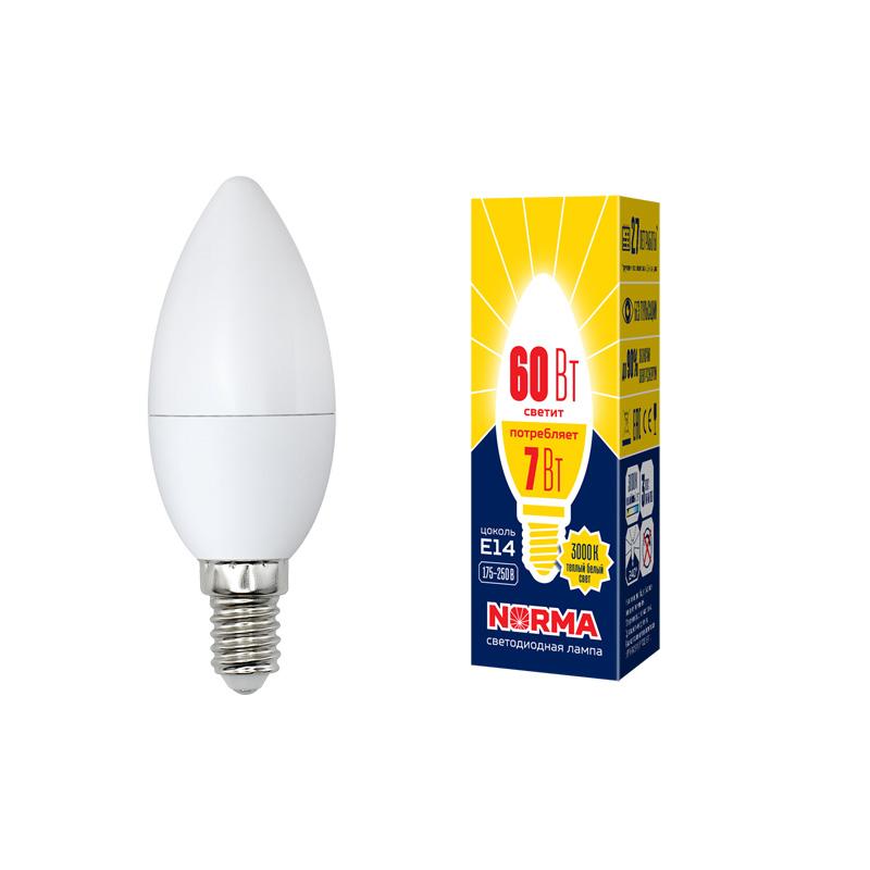 LED-C37-7W/WW/E14/FR/NR картон - фото 48591