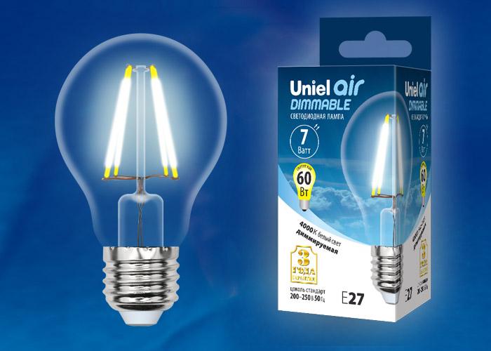 LED-A60-7W/NW/E27/CL/DIM GLA01TR картон - фото 48350
