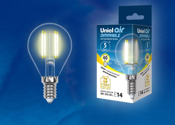 LED-G45-5W/WW/E14/CL/DIM GLA01TR картон - фото 48344