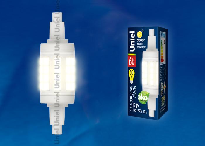 LED-J78-6W/WW/R7s/CL PLZ06WH картон - фото 47942