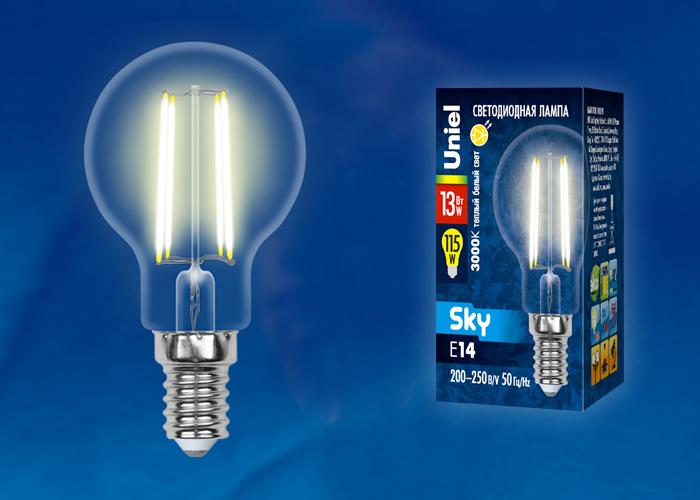 LED-G45-13W/3000K/E14/CL PLS02WH картон - фото 49355