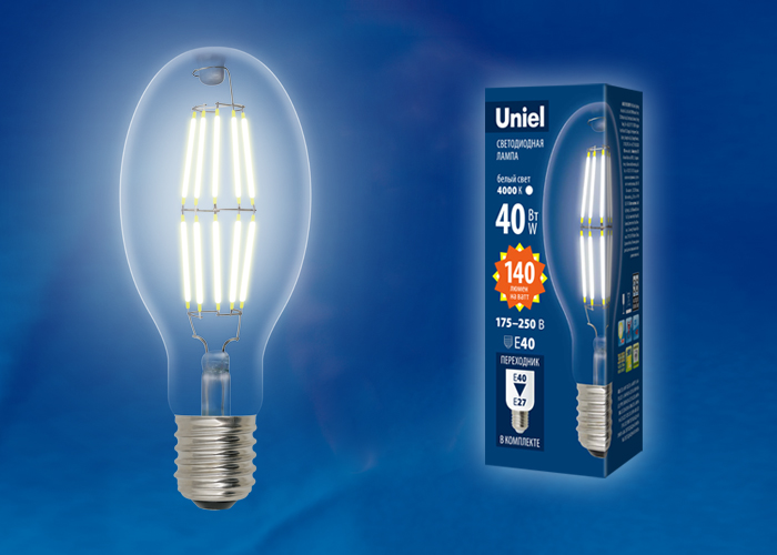 LED-ED90-40W/DW/E40/CL GLP05TR - фото 48553