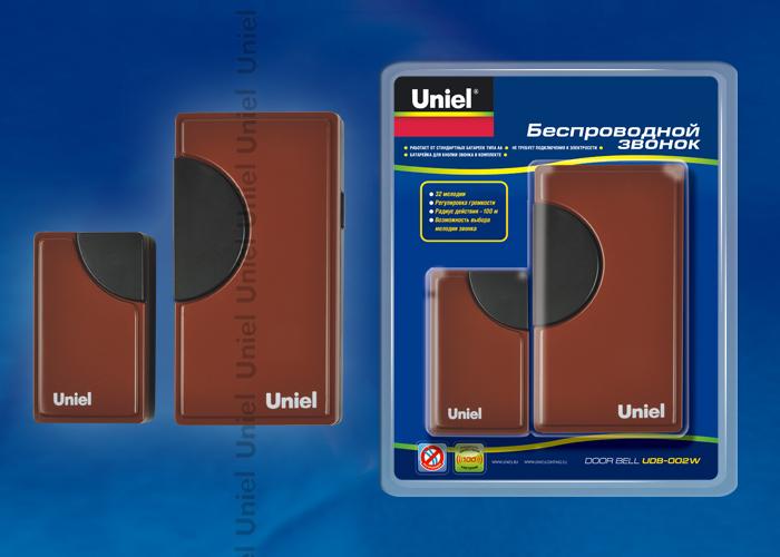 Звонок беспроводной UDB-002W-R1T1-32S-100M-RD 32 мелодии. Цвет — красный