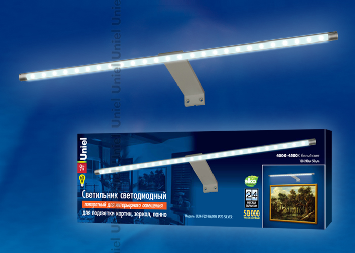 ULM-F32-9W/NW IP20 SILVER картон