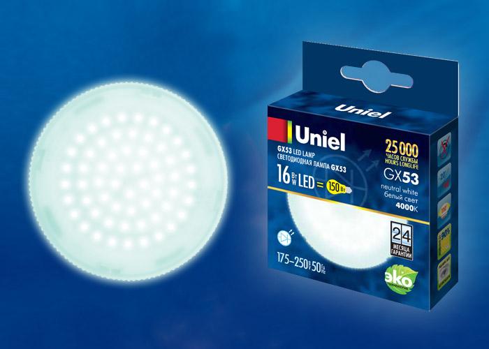 LED-GX53-16W/NW/GX53/FR PLZ01WH - фото 48619