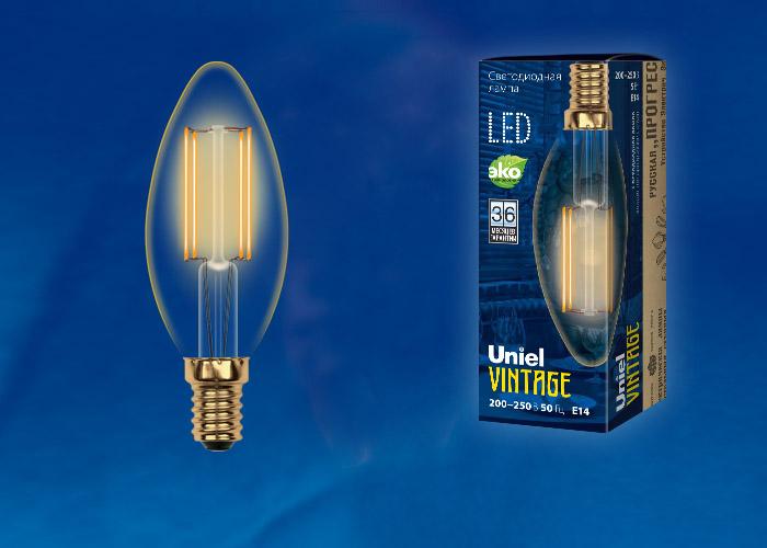 LED-C35-5W/GOLDEN/E14 GLV21GO