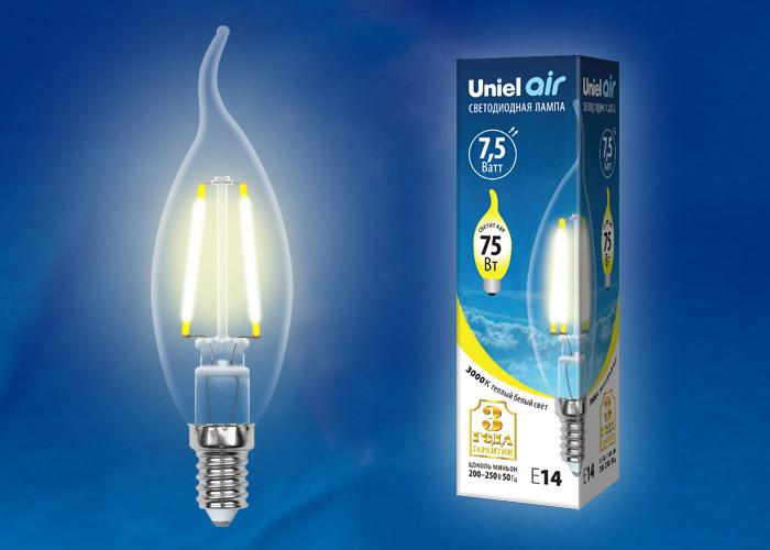 LED-CW35-7,5W/WW/E14/CL GLA01TR картон - фото 48421
