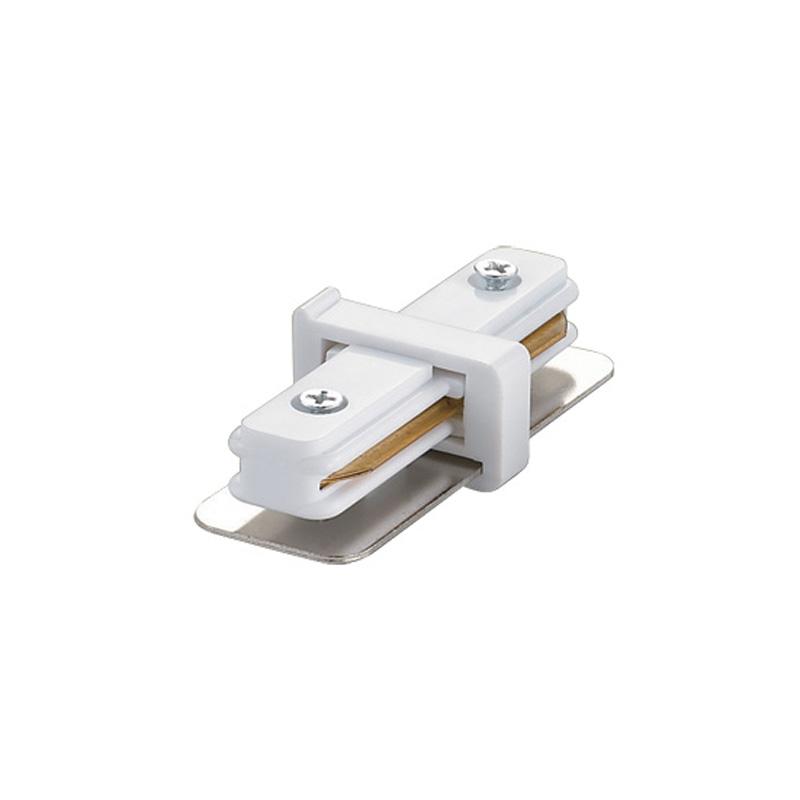 UBX-Q121 K11 WHITE 1 POLYBAG Соединитель для 2-х шинопроводов прямой внутренний. Однофазный. Цвет — белый. Упаковка — полиэтиленовый пакет.