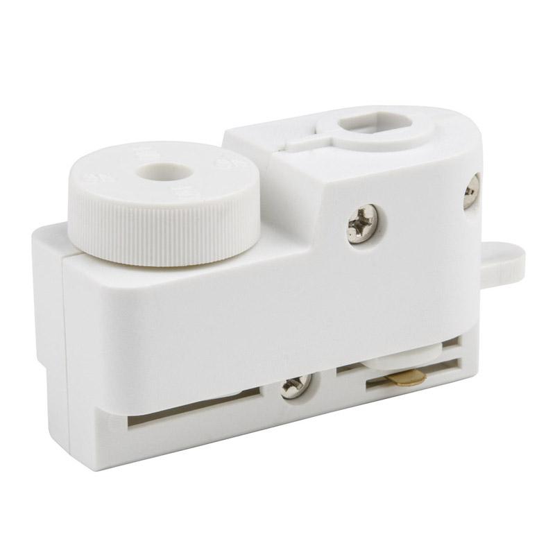 UBX-Q121 K61 WHITE 1 POLYBAG Адаптер для однофазного шинопровода. Цвет-белый.