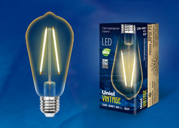 LED-ST64-4W/GOLDEN/E27 GLV22GO