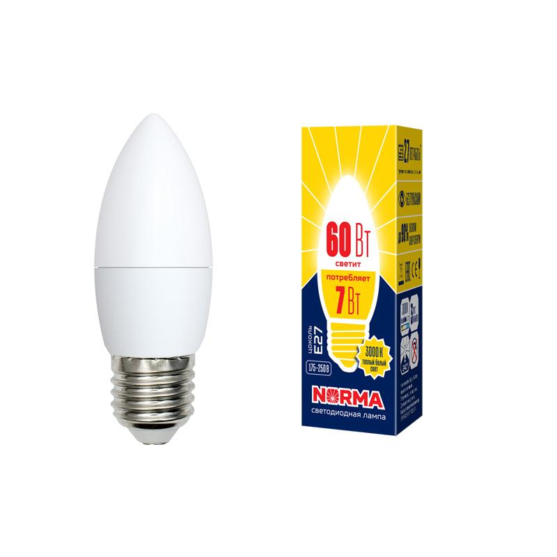 LED-C37-7W/WW/E27/FR/NR картон - фото 48474