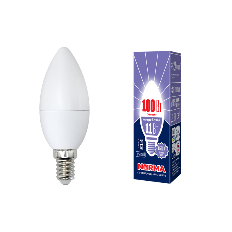 LED-C37-11W/DW/E14/FR/NR картон - фото 48616