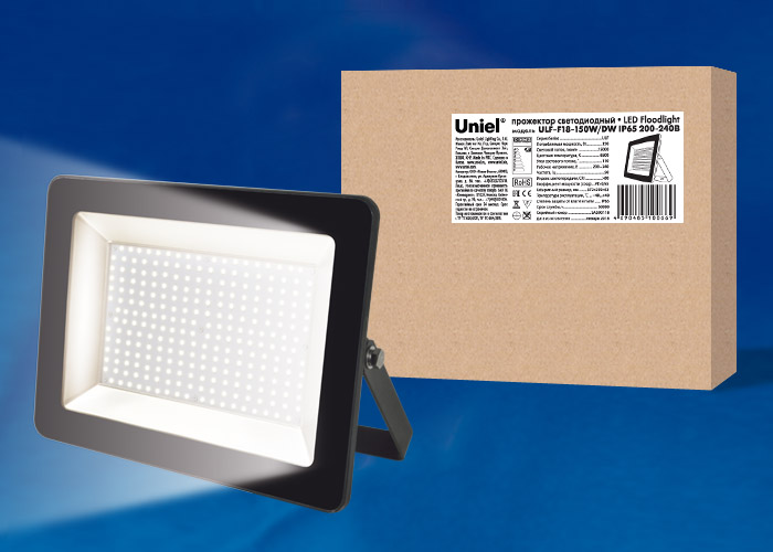 ULF-F18-150W/DW IP65 200-240В BLACK - фото 48392