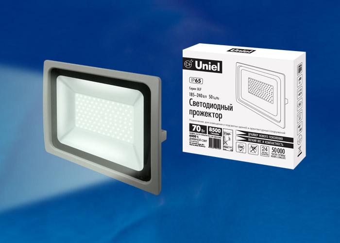 ULF-F16-70W/DW IP65 185-240В SILVER - фото 48137