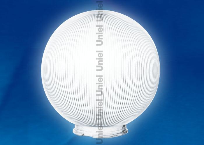 Рассеиватель призматический UFP-Р300В CLEAR (с насечками) в форме шара для садово-парковых светильников. Диаметр - 300мм. Тип соединения- посадочный. Цвет - прозрачный