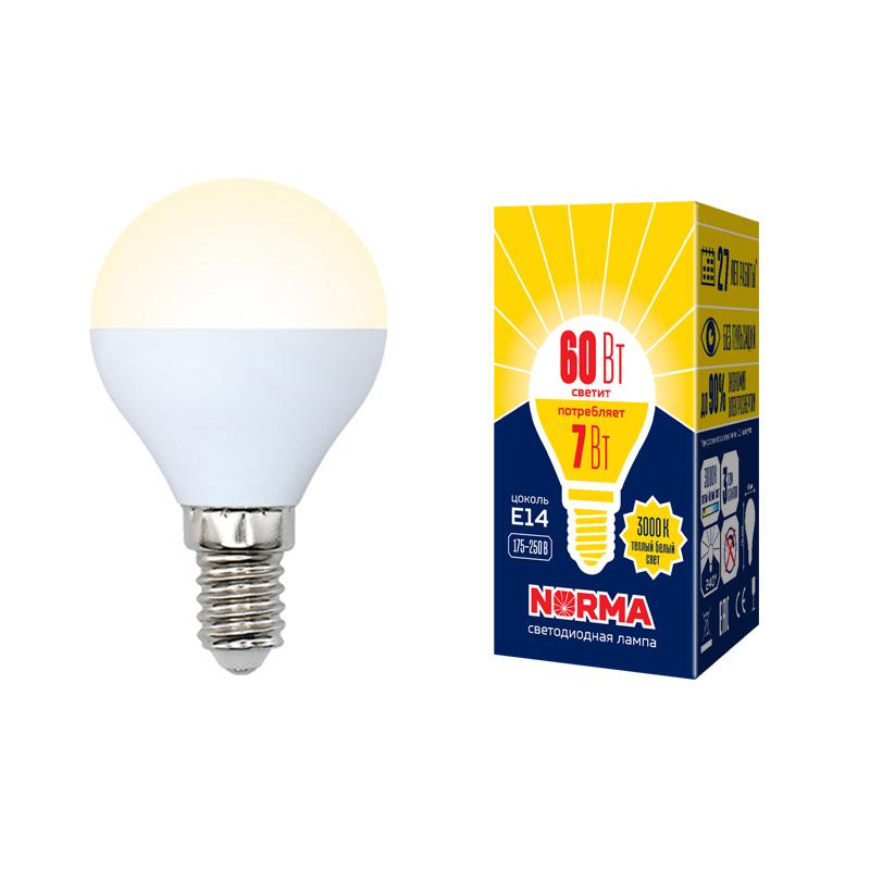 LED-G45-7W/WW/E14/FR/NR картон - фото 48632