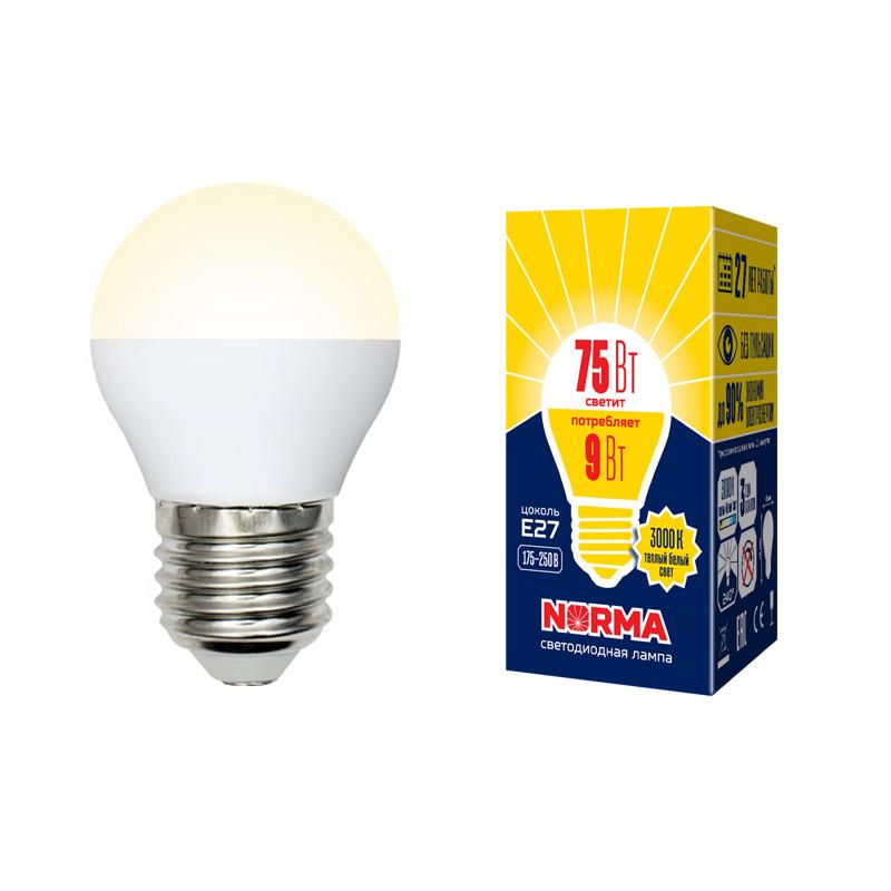 LED-G45-9W/WW/E27/FR/NR картон - фото 48512