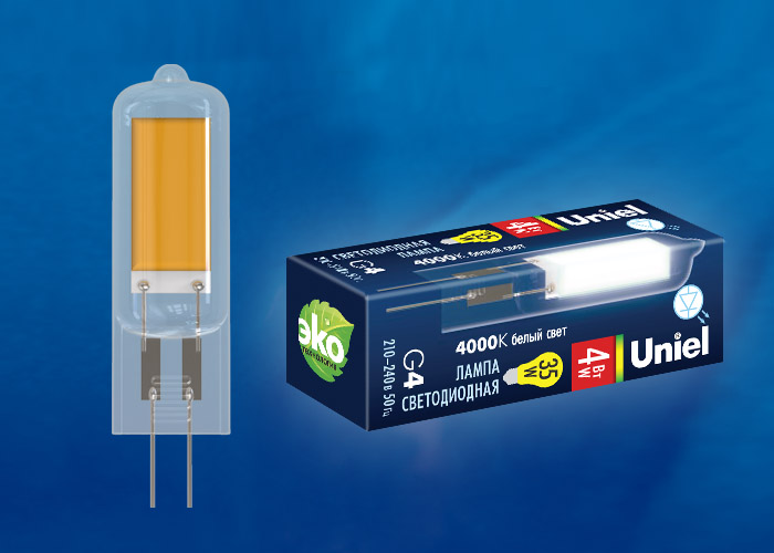 LED-JC-220/4W/4000K/G4/CL GLZ08TR картон - фото 49071