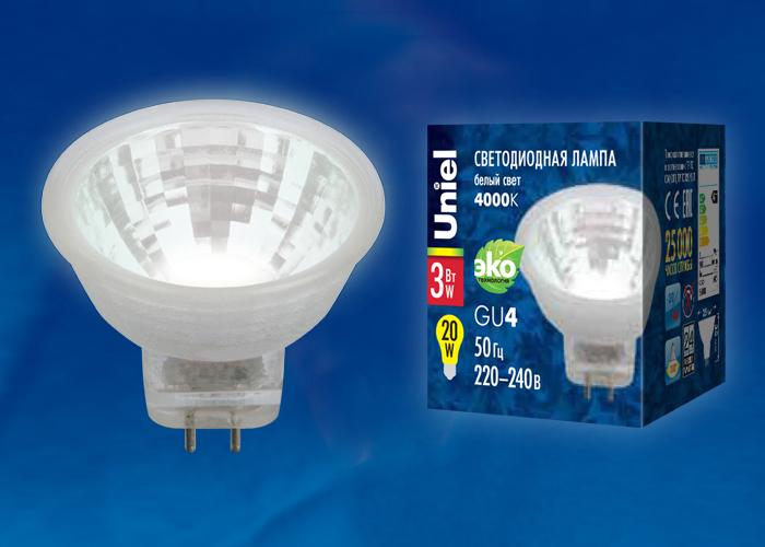 LED-MR11-3W/NW/GU4/220V GLZ21TR - фото 47970