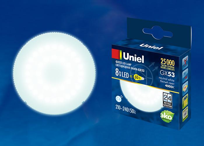LED-GX53-8W/NW/GX53/FR PLZ01WH - фото 47941