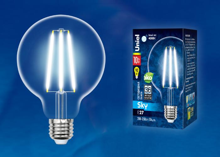 LED-G95-10W/4000K/E27/CL PLS02WH картон - фото 49042