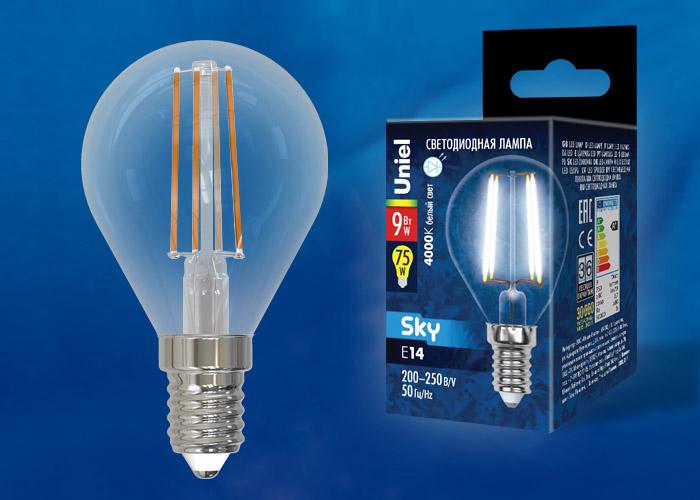 LED-G45-9W/4000K/E14/CL PLS02WH картон - фото 49148