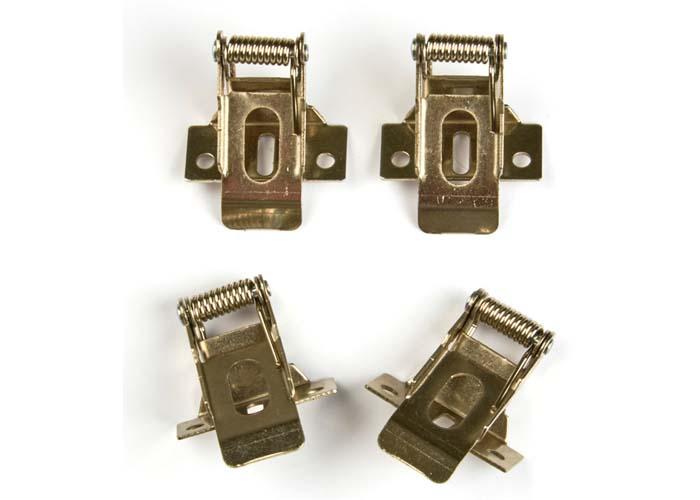 Комплект крепежных скоб UFL-F04 SILVER 150 POLYBAG  на пружинах (4шт.) для установки в гипсокартон. TM Uniel.