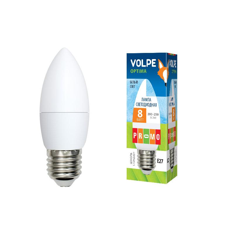 LED-C37-8W/NW/E27/FR/O картон - фото 48006