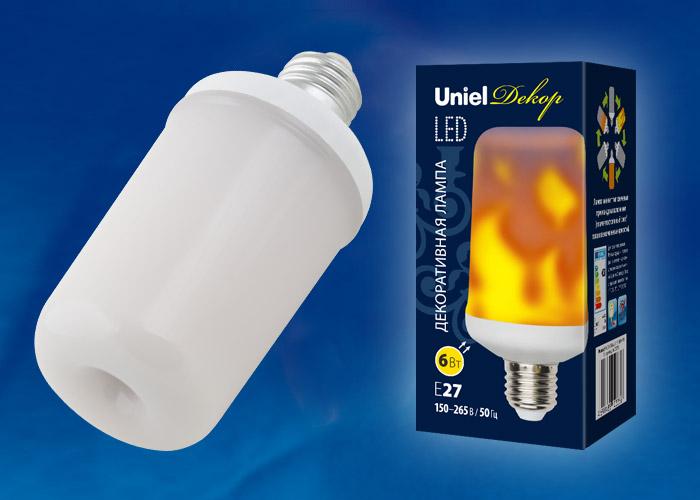 LED-L60-6W/FLAME/E27/FR PLD01WH - фото 48437