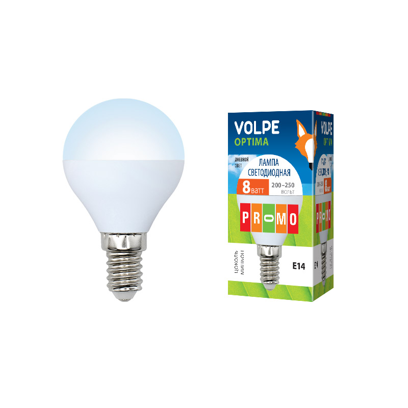LED-G45-8W/DW/E14/FR/O картон - фото 48031