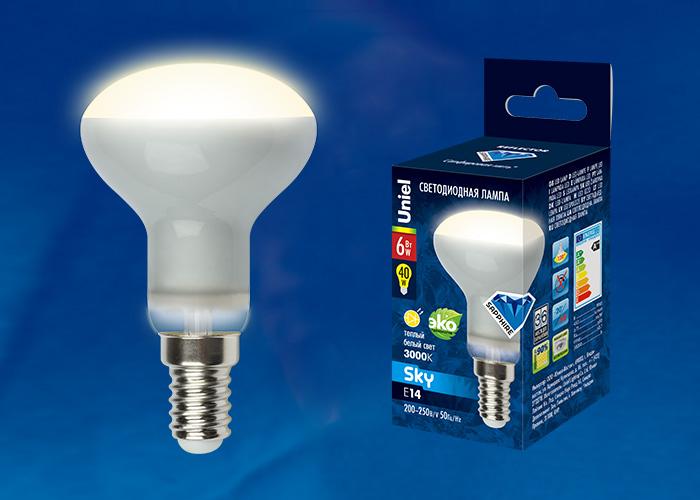 LED-R50-6W/WW/E14/FR PLS02WH картон - фото 47919