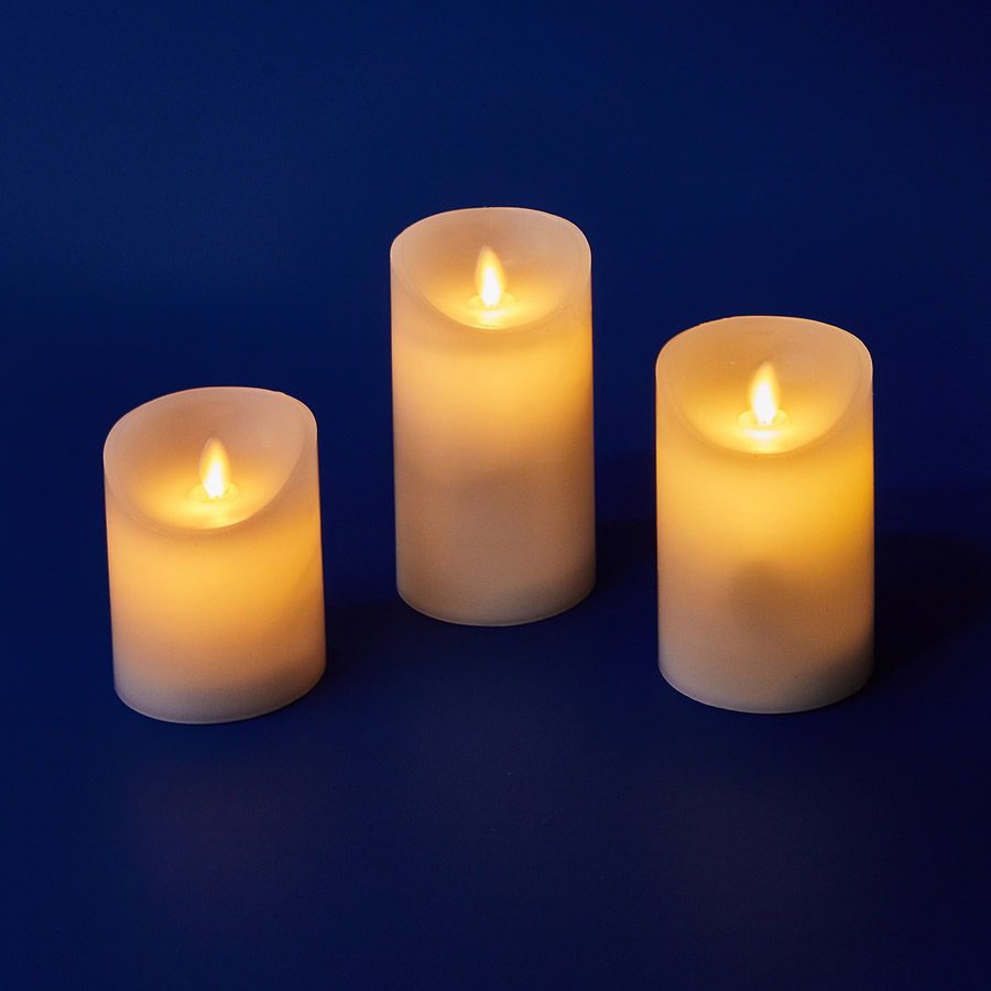 ULD-F055 WARM WHITE RC CANDLE SET3