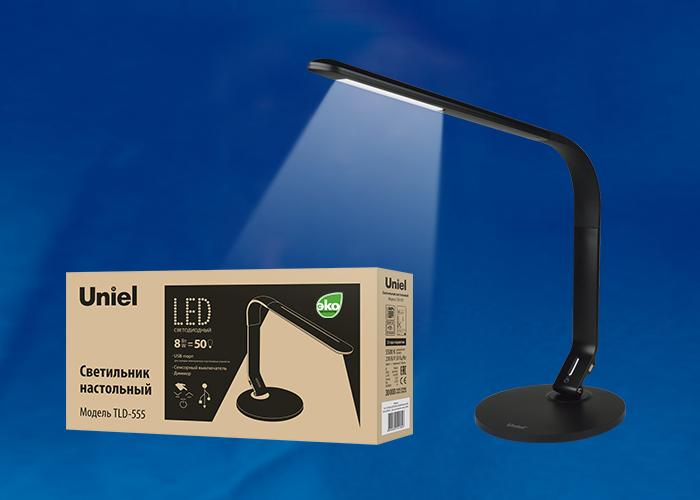 TLD-555 Black/LED/500Lm/5500K/Dimmer/USB
