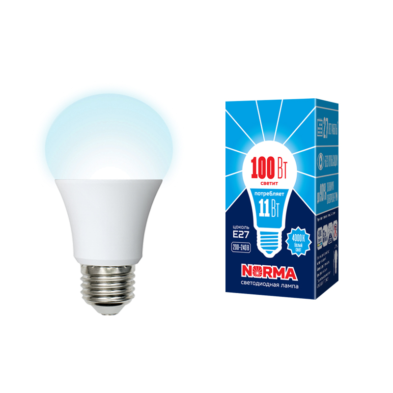 LED-A60-11W/NW/E27/FR/NR картон - фото 48580