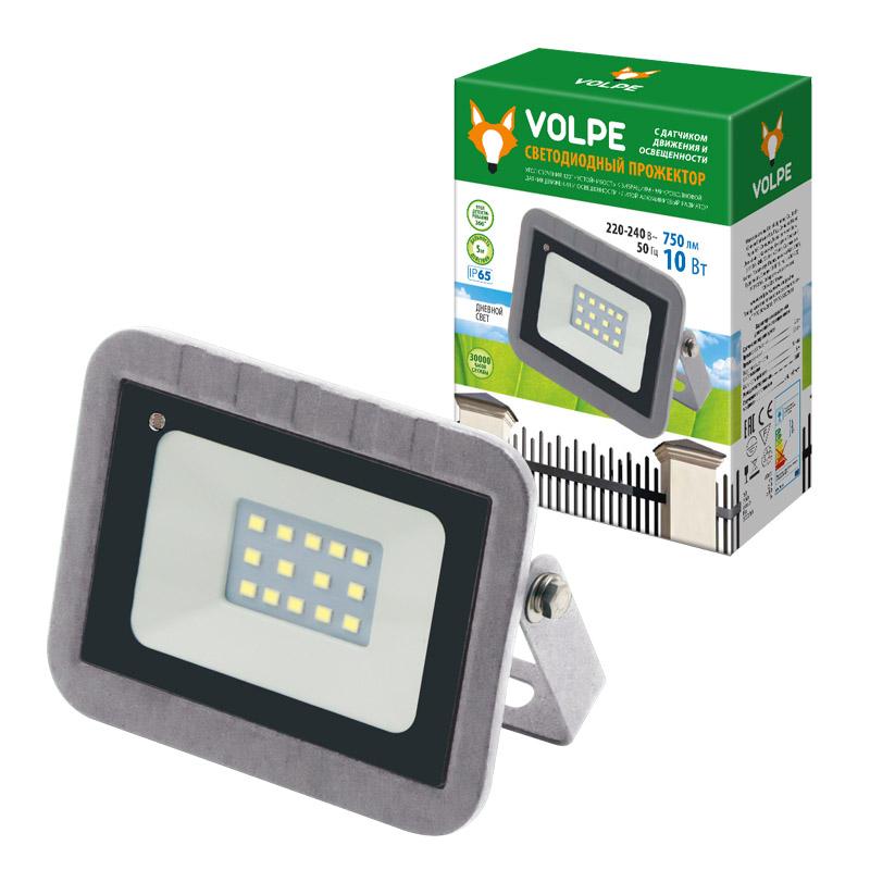 ULF-Q592 10W/DW SENSOR IP65 220-240B SILVER картон - фото 48433