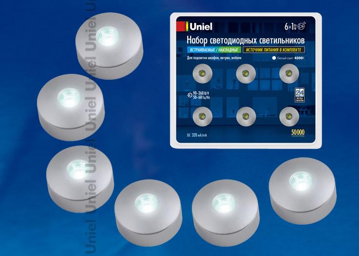 ULM-R04-1W*6/NW IP33 SILVER блистер