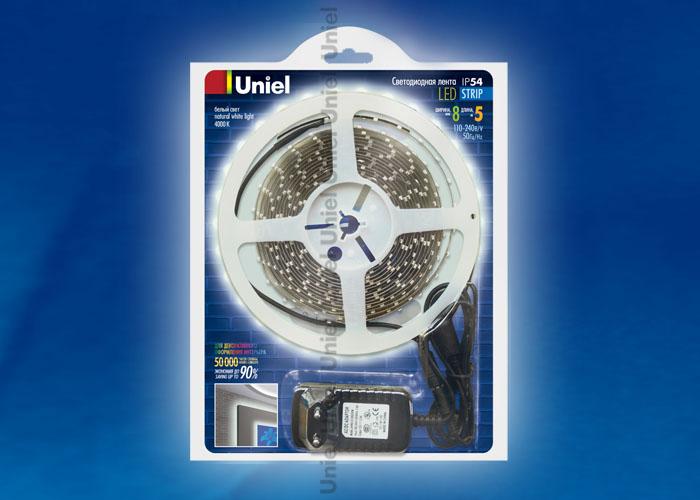 ULS-3528-60LED/m-8mm-IP54-DC12V-5M-NW блистер - фото 47924