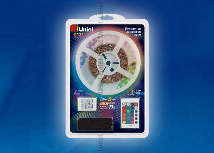 ULS-5050-60LED/m-10mm-IP20-DC12V-5M-RGB блистер - фото 47914