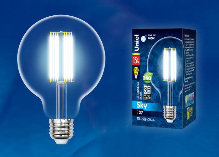 LED-G95-15W/4000K/E27/CL PLS02WH картон - фото 49085